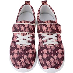 Cherry Blossoms Japanese Men s Velcro Strap Shoes by HermanTelo