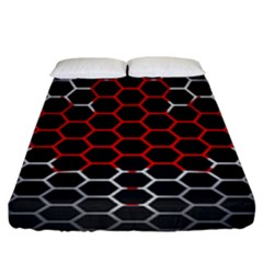 Canada Flag Hexagon Fitted Sheet (king Size) by HermanTelo
