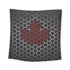 Canada Flag Hexagon Square Tapestry (small)