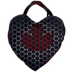 Canada Flag Hexagon Giant Heart Shaped Tote by HermanTelo