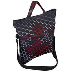 Canada Flag Hexagon Fold Over Handle Tote Bag