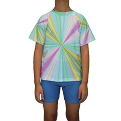 Background Burst Abstract Color Kids  Short Sleeve Swimwear by HermanTelo