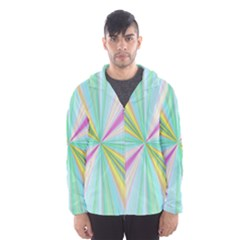 Background Burst Abstract Color Men s Hooded Windbreaker