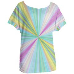 Background Burst Abstract Color Women s Oversized Tee