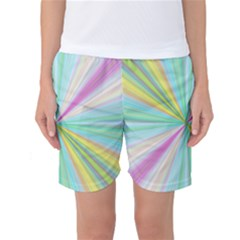 Background Burst Abstract Color Women s Basketball Shorts