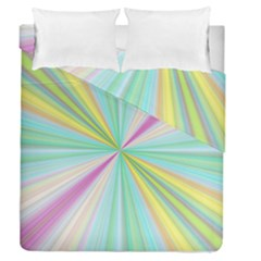 Background Burst Abstract Color Duvet Cover Double Side (queen Size)