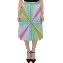 Background Burst Abstract Color Classic Midi Skirt