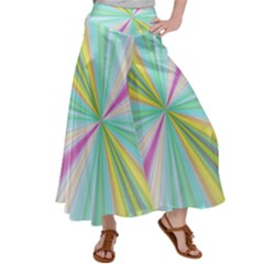 Background Burst Abstract Color Satin Palazzo Pants by HermanTelo