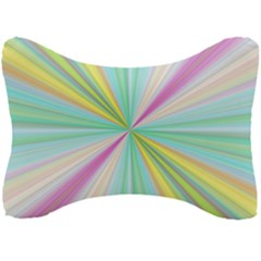 Background Burst Abstract Color Seat Head Rest Cushion