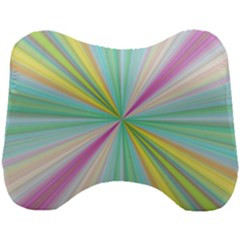Background Burst Abstract Color Head Support Cushion