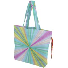Background Burst Abstract Color Drawstring Tote Bag