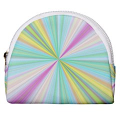 Background Burst Abstract Color Horseshoe Style Canvas Pouch by HermanTelo