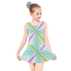 Background Burst Abstract Color Kids  Skater Dress Swimsuit by HermanTelo