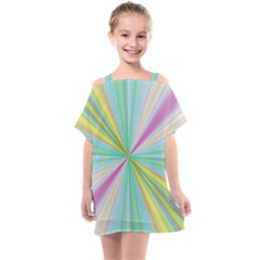 Background Burst Abstract Color Kids  One Piece Chiffon Dress by HermanTelo