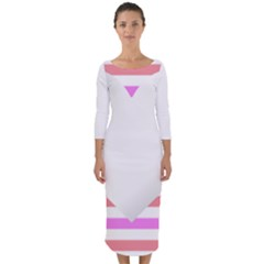 Love Heart Valentine S Day Quarter Sleeve Midi Bodycon Dress by HermanTelo