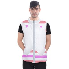 Love Heart Valentine S Day Men s Puffer Vest