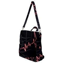 Music Wallpaper Heartbeat Melody Crossbody Backpack