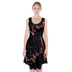 Music Wallpaper Heartbeat Melody Racerback Midi Dress by HermanTelo
