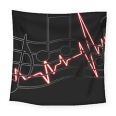 Music Wallpaper Heartbeat Melody Square Tapestry (large)