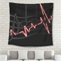 Music Wallpaper Heartbeat Melody Square Tapestry (Large) View2
