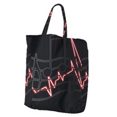 Music Wallpaper Heartbeat Melody Giant Grocery Tote by HermanTelo