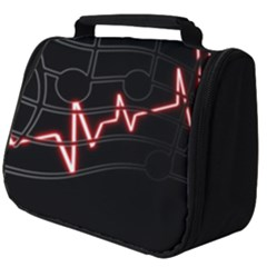 Music Wallpaper Heartbeat Melody Full Print Travel Pouch (big)