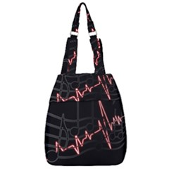Music Wallpaper Heartbeat Melody Center Zip Backpack by HermanTelo