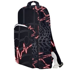 Music Wallpaper Heartbeat Melody Double Compartment Backpack by HermanTelo