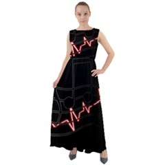 Music Wallpaper Heartbeat Melody Chiffon Mesh Maxi Dress by HermanTelo