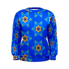 Pattern Backgrounds Blue Star Women s Sweatshirt by HermanTelo