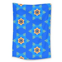 Pattern Backgrounds Blue Star Large Tapestry