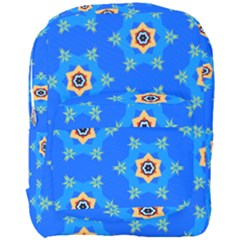 Pattern Backgrounds Blue Star Full Print Backpack