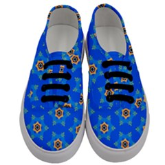 Pattern Backgrounds Blue Star Men s Classic Low Top Sneakers