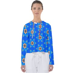 Pattern Backgrounds Blue Star Women s Slouchy Sweat by HermanTelo