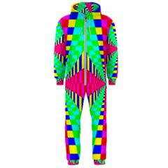Maze Rainbow Vortex Hooded Jumpsuit (men)  by HermanTelo