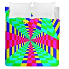 Maze Rainbow Vortex Duvet Cover Double Side (queen Size) by HermanTelo
