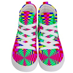 Maze Rainbow Vortex Kids  Hi Top Skate Sneakers