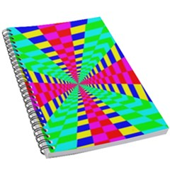 Maze Rainbow Vortex 5 5  X 8 5  Notebook by HermanTelo