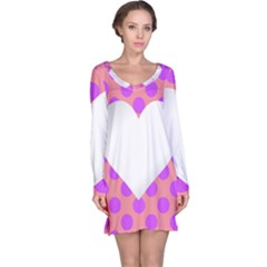 Love Heart Valentine Long Sleeve Nightdress
