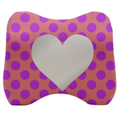 Love Heart Valentine Velour Head Support Cushion