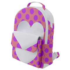 Love Heart Valentine Flap Pocket Backpack (small)