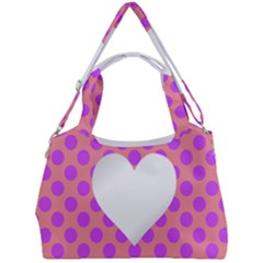 Love Heart Valentine Double Compartment Shoulder Bag by HermanTelo