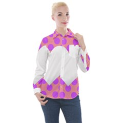 Love Heart Valentine Women s Long Sleeve Pocket Shirt