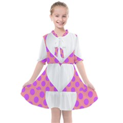 Love Heart Valentine Kids  All Frills Chiffon Dress by HermanTelo