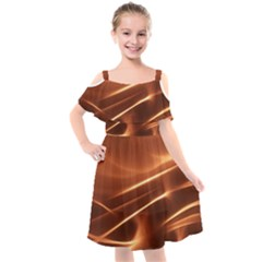 Light Rays Aurora Kids  Cut Out Shoulders Chiffon Dress