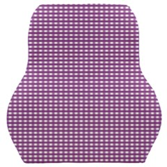 Gingham Plaid Fabric Pattern Purple Car Seat Back Cushion  by HermanTelo