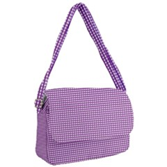 Gingham Plaid Fabric Pattern Purple Courier Bag