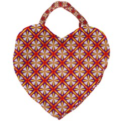 Hexagon Polygon Colorful Prismatic Giant Heart Shaped Tote