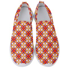 Hexagon Polygon Colorful Prismatic Men s Slip On Sneakers by HermanTelo