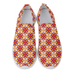 Hexagon Polygon Colorful Prismatic Women s Slip On Sneakers by HermanTelo